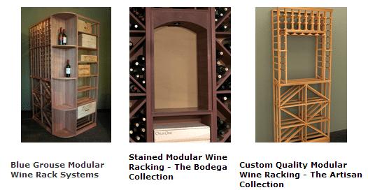 Wood Wine Racks by Blue Grouse Wine Cellars