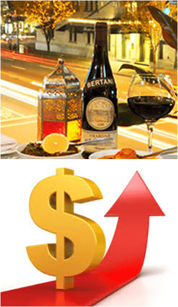 increase in wine sales