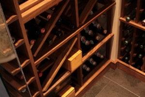 Custom Wine Cellar Racking - Diamond Bins