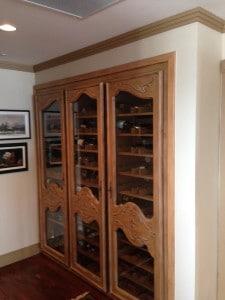 Wood Racking Wine Cellar Before