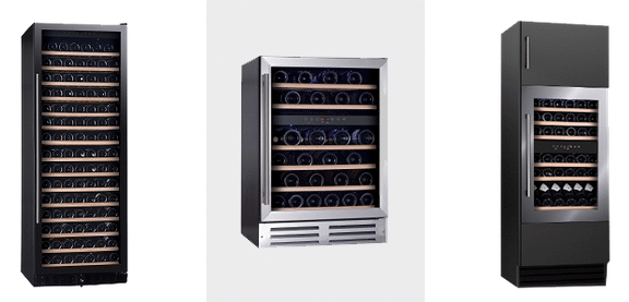 Single or Dual Temperature Option - Vinopro Wine Fridges