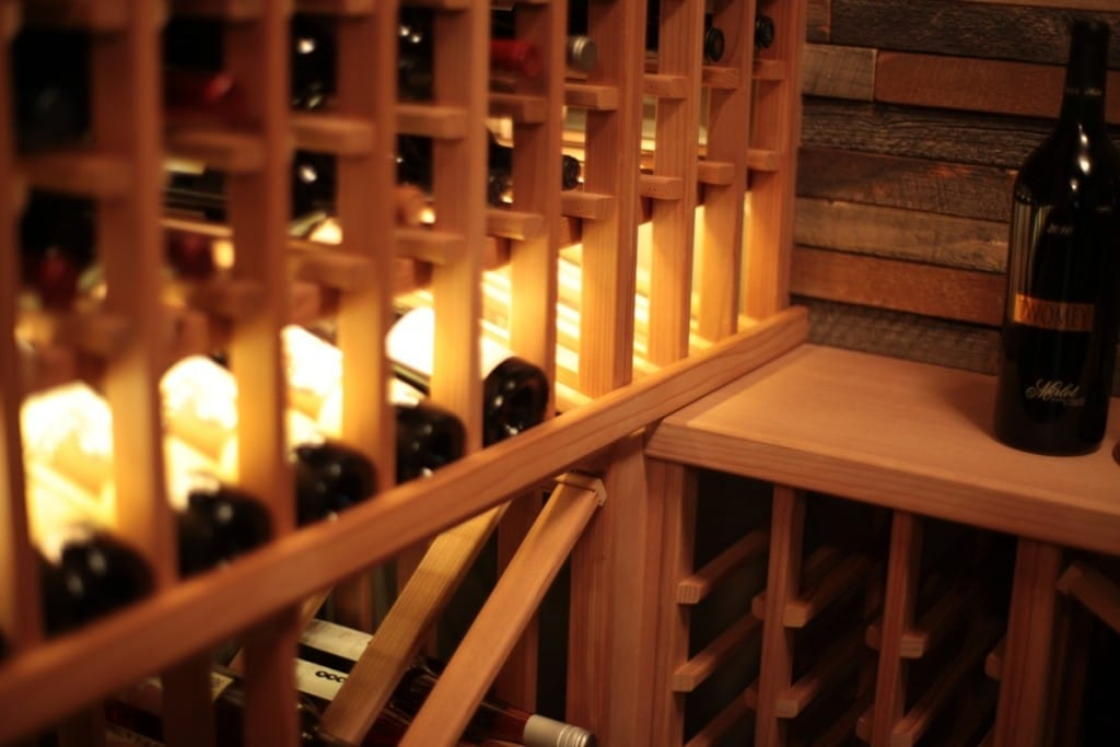 Modular California Redwood Wine Cellar Racks
