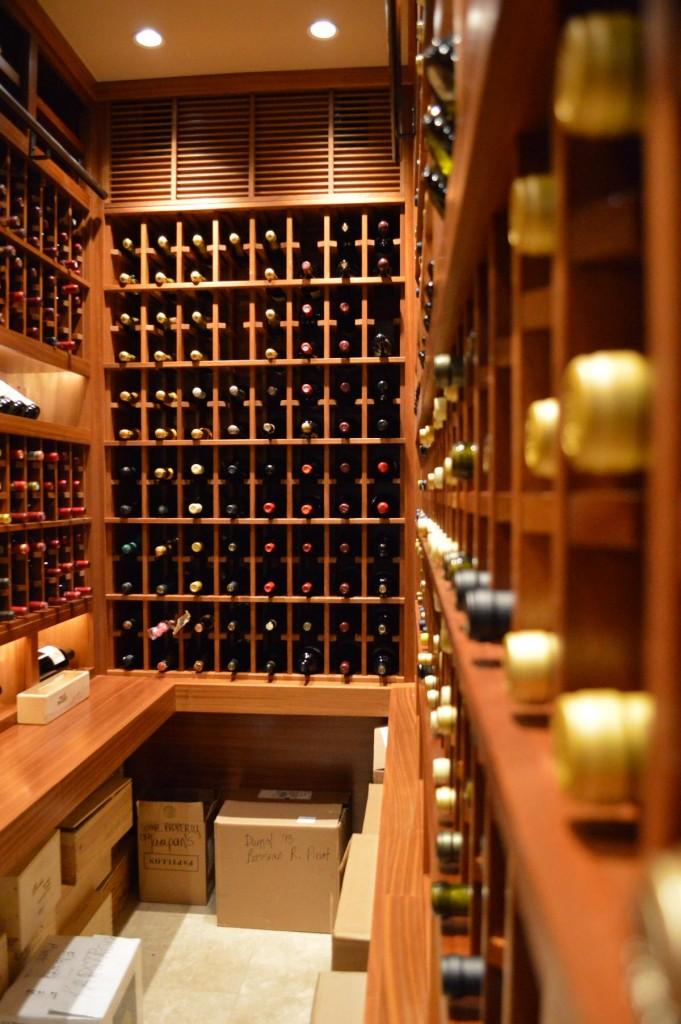 Canada Contemporary Home Wine Cellar Project Custom Wine