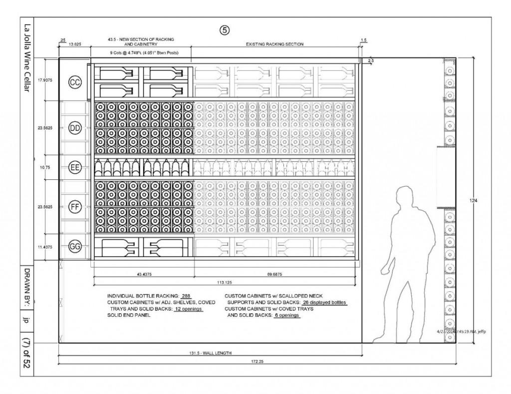 Canada Project Custom Wine Cellar Drawing_Elevation 5