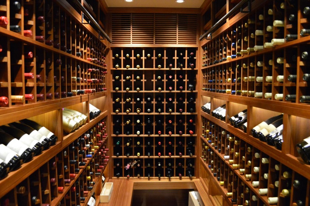 Contemporay Wine Cellar Design Canada Master Builders