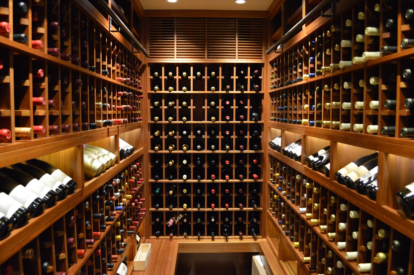 Canada contemporary home wine cellar project custom wine for Wine cellar layout