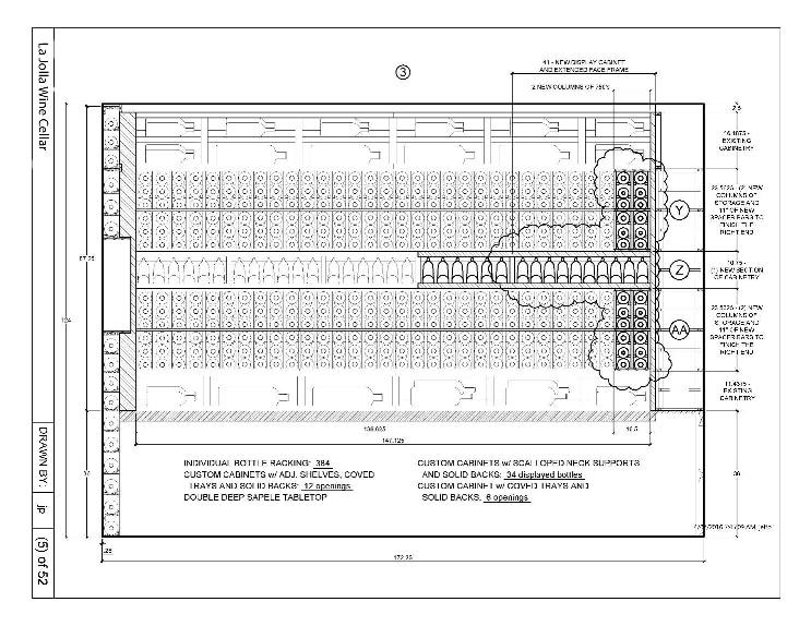 Custom Wine Cellar Canada Project_Elevation 3 Drawing