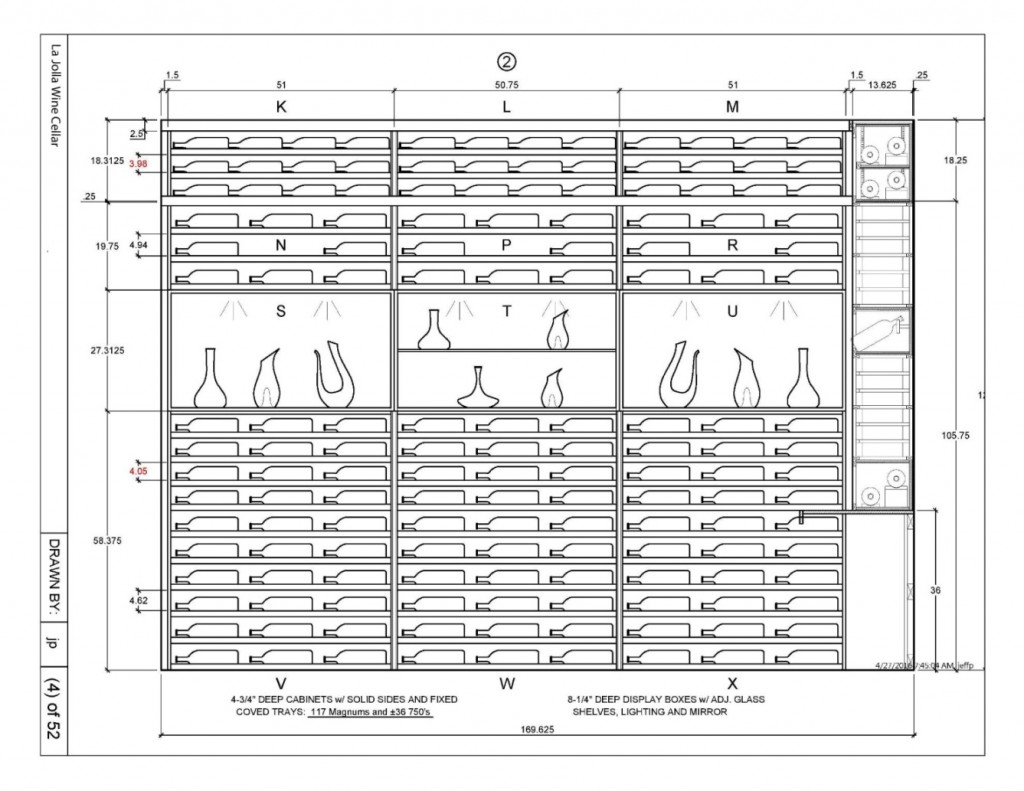 Custom Wine Rack Design Canada_Elevation 2