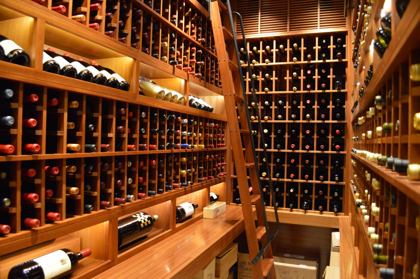 Canada Contemporary Home Wine Cellar Project Custom Wine