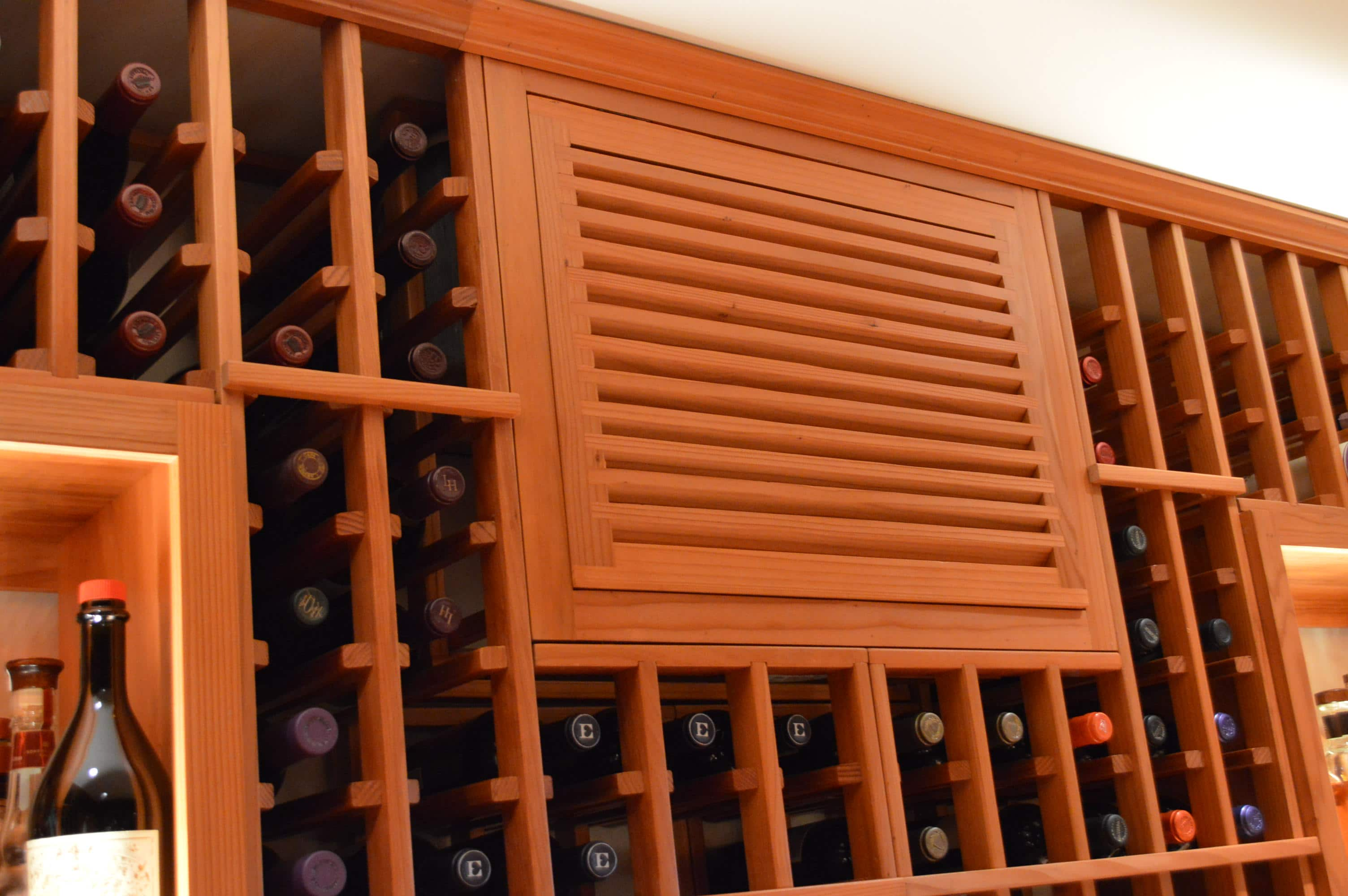 Dependable Wine Cellar Cooling System from Arctic Metalworks Inc. & Redwood Custom Wine Cellar Built in a Home in Vancouver | Custom ...