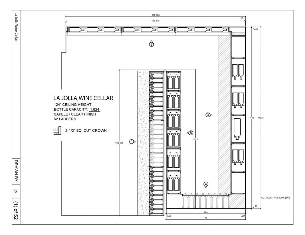 Wine Cellar Drawing Installation Canada Project
