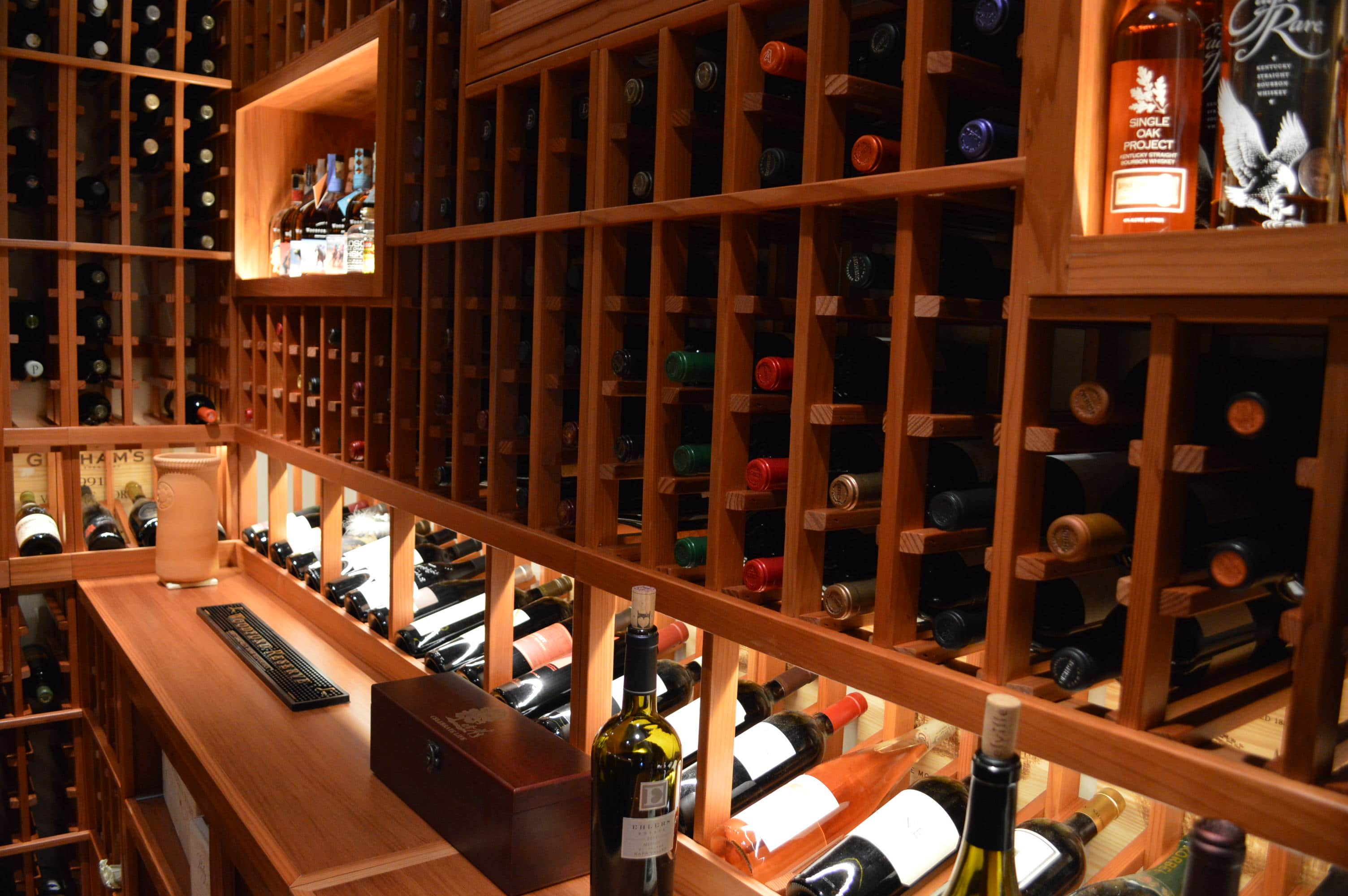 Redwood custom wine cellar built in a home in vancouver custom wine cellars vancouver local - Types of beautiful wine racks for your home ...