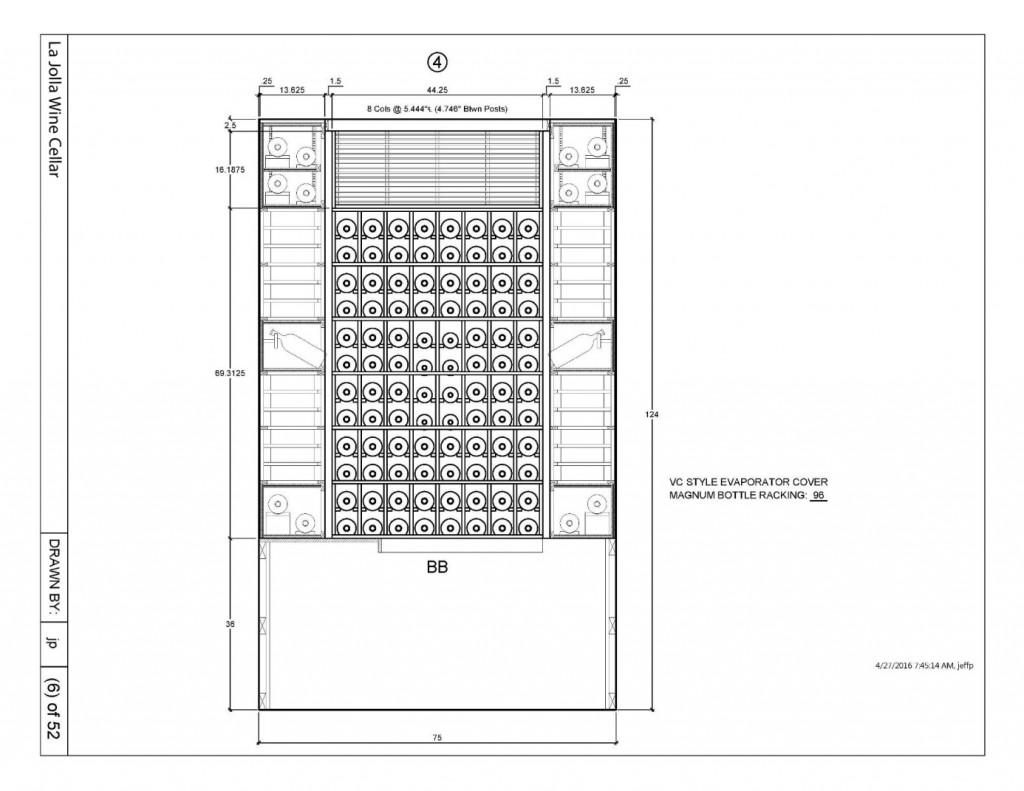 Wine Rack Design Canada Master Builders_Elevation 4