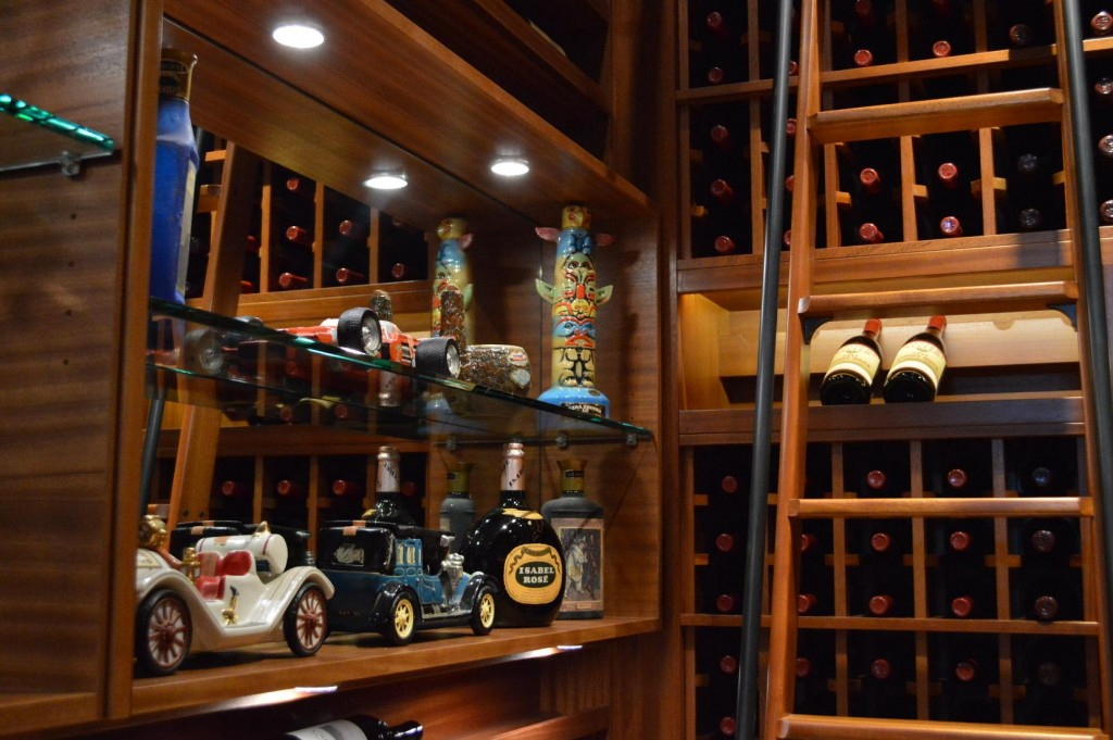 Wine Racks Mini Car Collection Custom Display with LGlass Shelves and Lighting