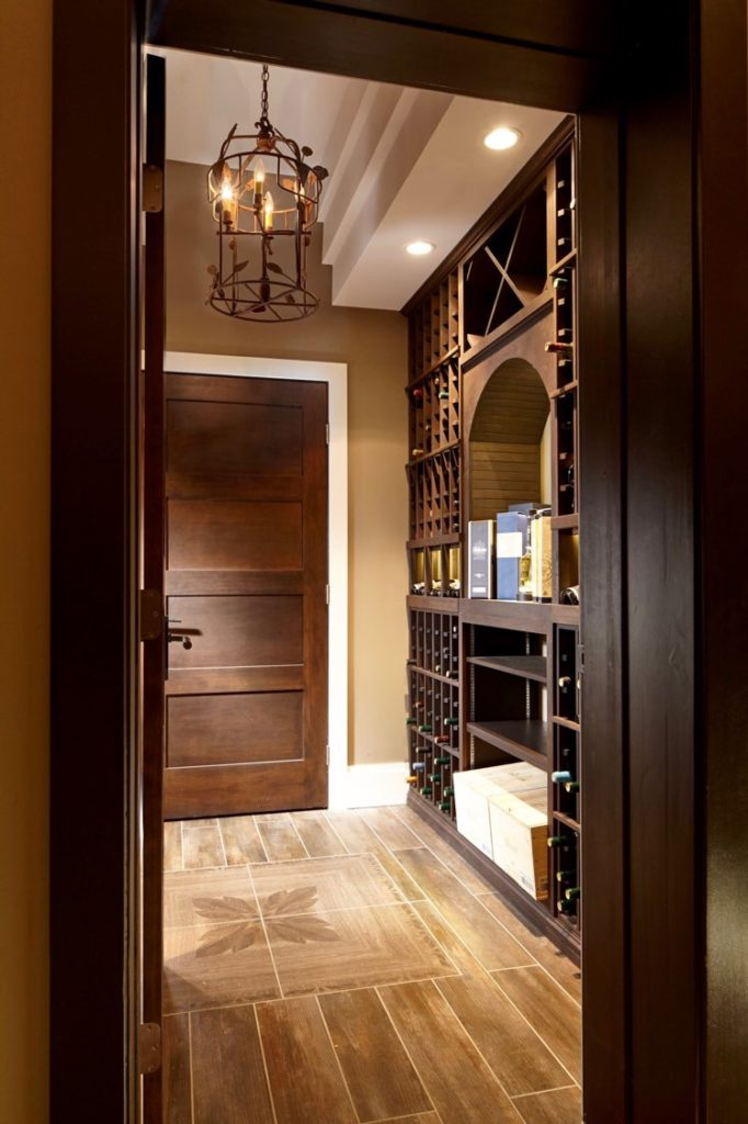 Luxurious Custom Wine Cellar Design for a High-End Home in West Vancouver