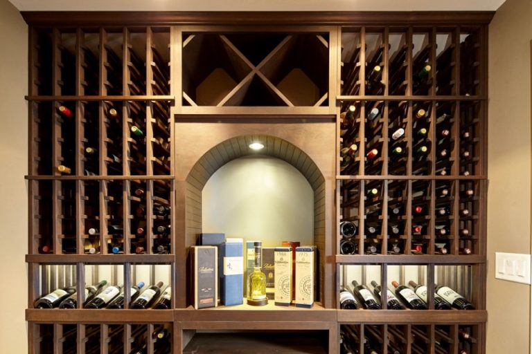 Wine Cellar Lighting in Archway and Display Row